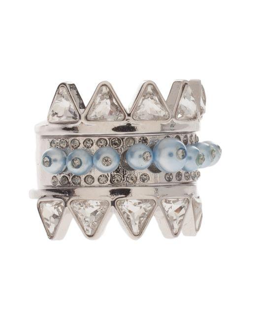 Ca&Lou | Blue Black Diamond Crystal Ring | Lyst
