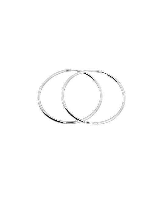 Azendi   Metallic Sterling Silver Hoop Earring 5cm   Lyst