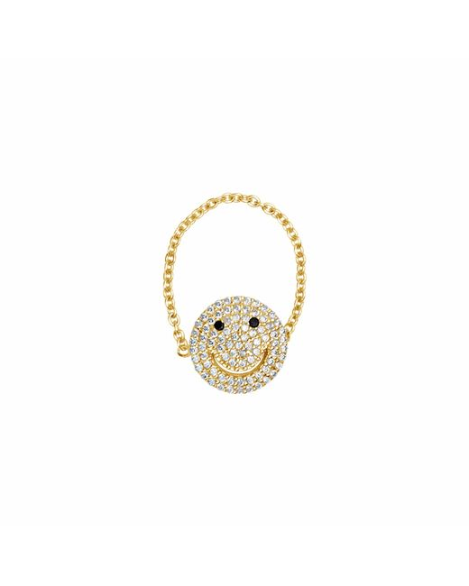 Talia Naomi | Metallic Why So Serious Chain Ring Gold | Lyst