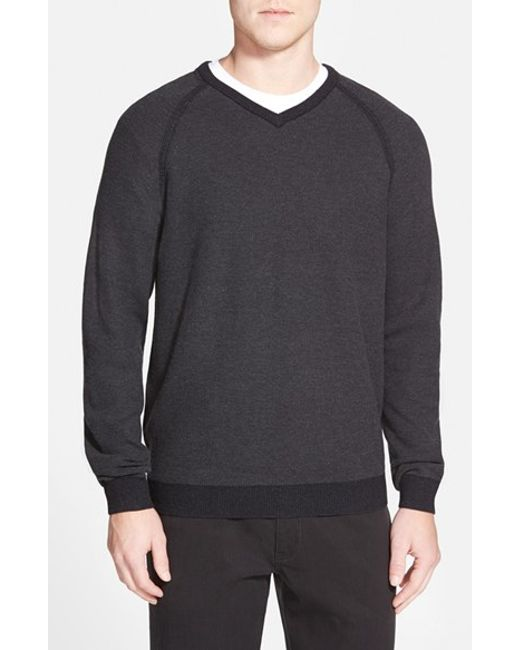 Tommy Bahama | Black 'make Mine A Double' Reversible Pima Cotton V-neck Sweater for Men | Lyst