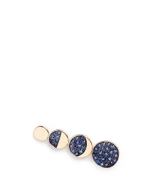 Pamela Love | Blue 'moon Phase' Sapphire 18k Yellow Gold Single Climber Earring | Lyst