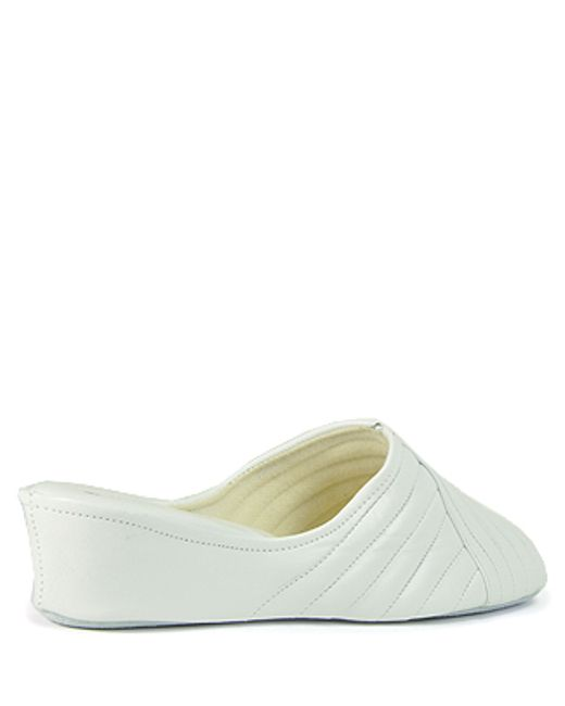 Jacques Levine | White Wedge Slipper | Lyst