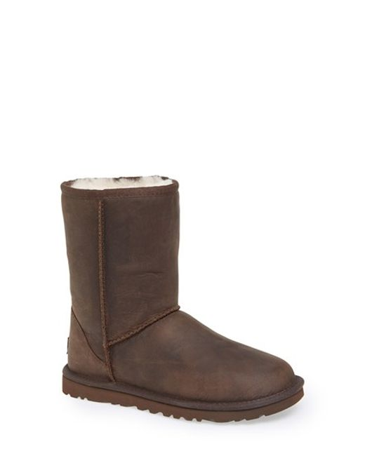 Ugg | Brown Classic Uggpure™ Lined Short Boot | Lyst