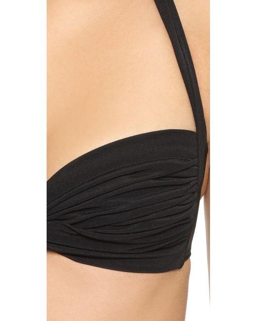 Norma Kamali | Black Bill Bikini Top | Lyst