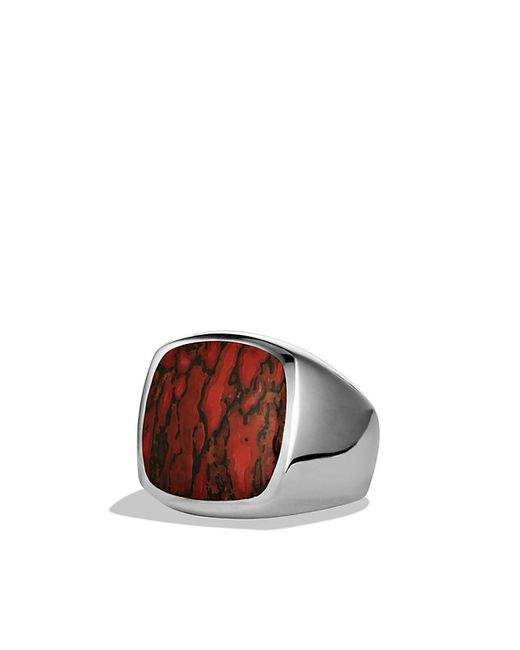 David Yurman | White Exotic Stone Signet Ring With Dinosaur Bone for Men | Lyst