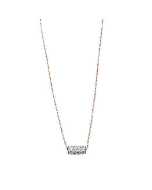 Ginette NY   Metallic Mini Straw Diamond Necklace   Lyst