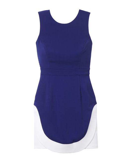 Laila Azhar | Blue Combo Hem Dress | Lyst