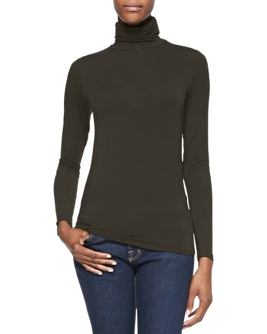 Neiman Marcus | Green Soft Touch Turtleneck | Lyst