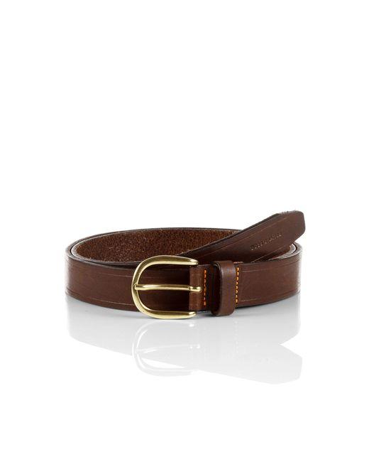 BOSS Orange | Brown Leather Belt 'jako' for Men | Lyst