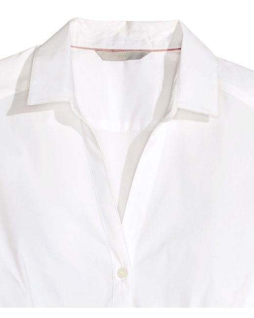 H&M | White Stretch Shirt | Lyst