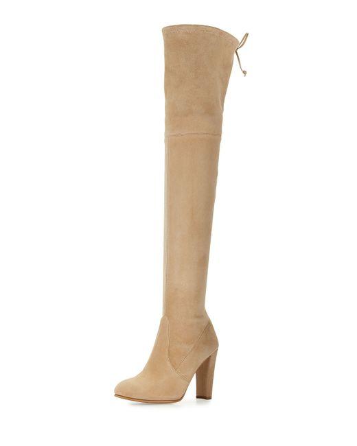 stuart weitzman highland suede the knee boots in