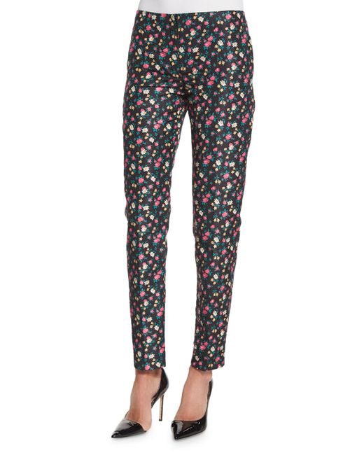 Add flair to every step with the Billabong Strange Talk Black Floral Print Cropped Pants! These fun, flare pants, composed of blue, white, and orange floral print woven fabric, have a high-waisted fit, wide-leg silhouette, and cropped hems with flirty ruffle trim.5/5(2).