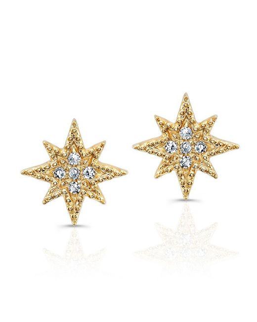 Anne Sisteron | Metallic 14kt Yellow Gold Diamond North Star Stud Earrings | Lyst
