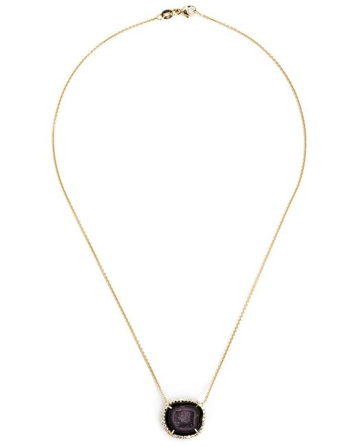 Kimberly Mcdonald | Metallic Geode And Diamond Pendant Necklace | Lyst