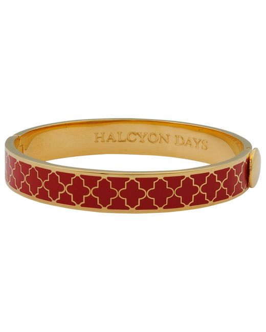 Halcyon Days | Red Agama Hinged Bangle | Lyst