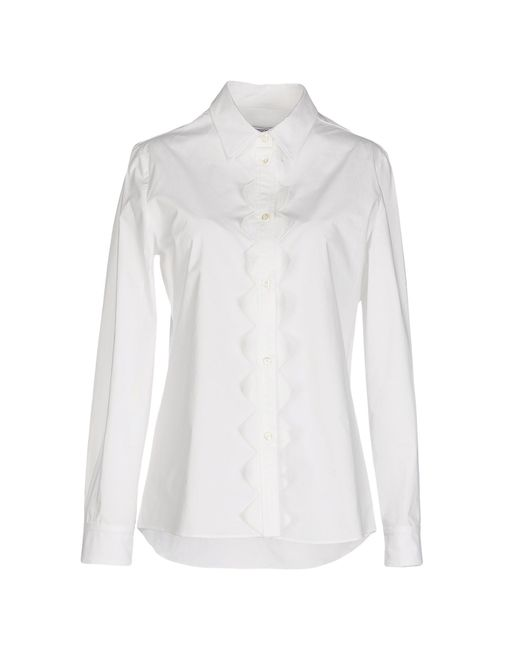 Boutique Moschino | White Embroidered Silk Top | Lyst