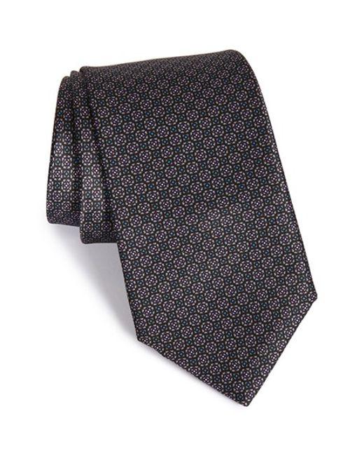 Robert Talbott | Black Best Of Class Geometric Silk Tie for Men | Lyst