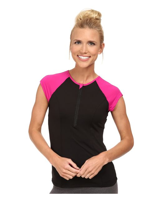 Spanx | Black Capped Sleeve Top | Lyst