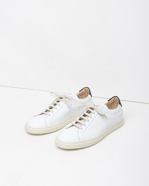 common projects retro achilles low sneaker in white lyst. Black Bedroom Furniture Sets. Home Design Ideas