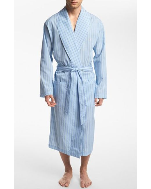 Polo Ralph Lauren | Blue Woven-Cotton Robe for Men | Lyst