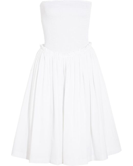 Givenchy | White Smocked Cottonpoplin Dress | Lyst