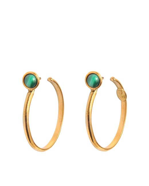 Sylvia Toledano | Metallic Malachite Hoop Earrings | Lyst