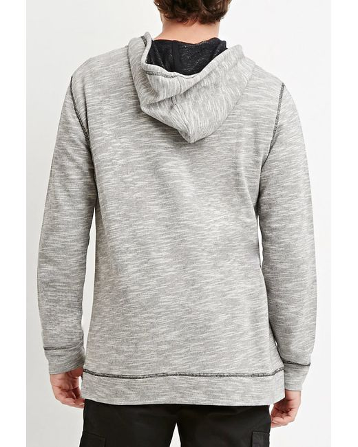 Forever 21 | Gray Marled Knit Hoodie for Men | Lyst