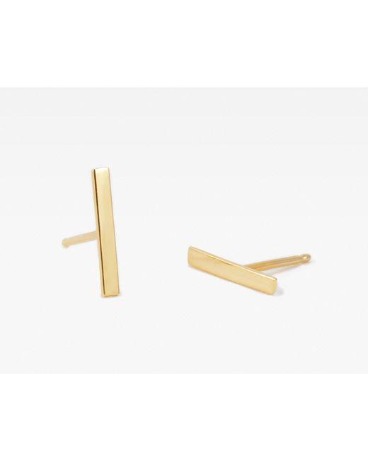 Vrai & Oro | Metallic Single Line Stud Earring | Lyst