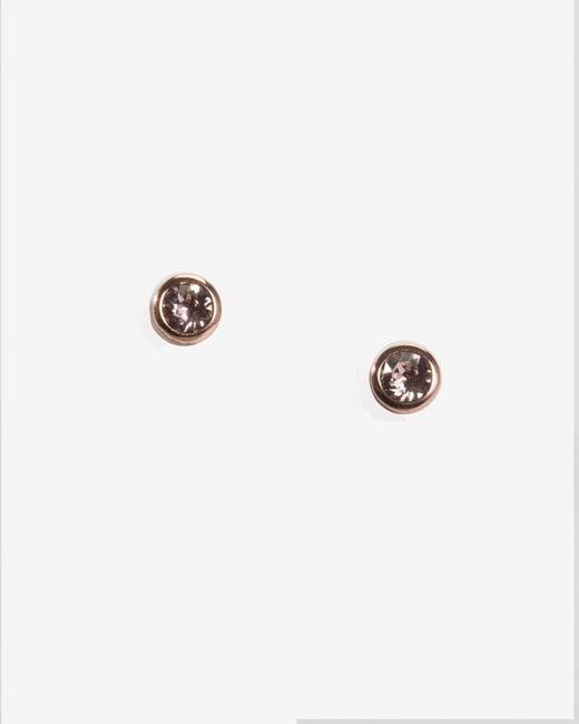 Ted Baker | Pink Crystal Stud Earrings | Lyst