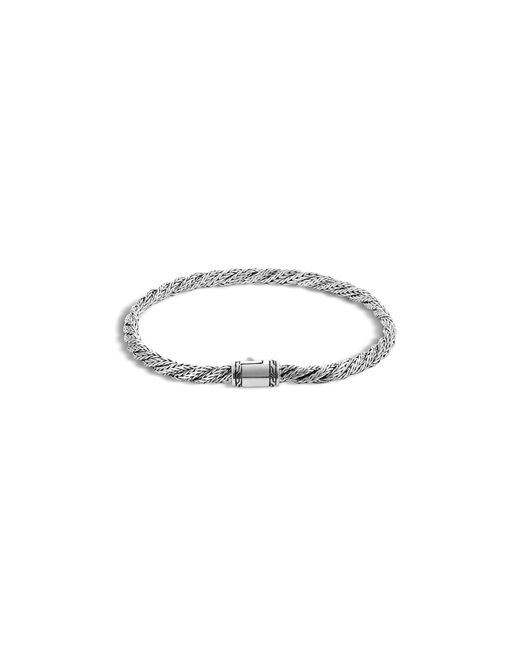 John Hardy | Metallic Classic Chain Silver Slim Flat Twisted Chain Bracelet | Lyst