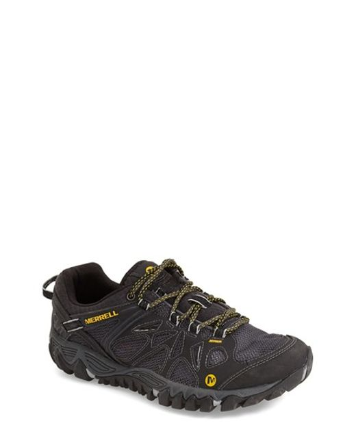 merrell all out blaze aero sport hiking shoes in black for