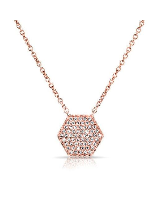 Anne Sisteron - Pink 14kt Rose Gold Diamond Honey Necklace - Lyst