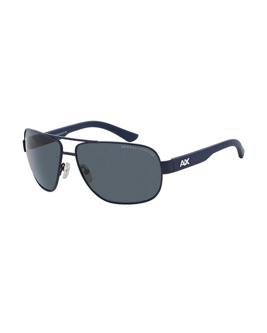 Armani Exchange | Blue Urban Attitude Navigator Sunglasses for Men | Lyst