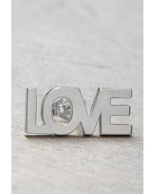 Forever 21 | Metallic Makko Love Stud Earring | Lyst