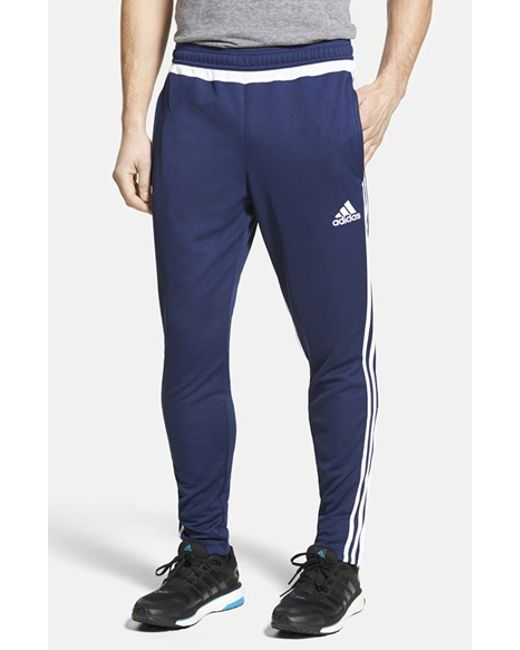 Adidas Originals | Blue 'tiro 15' Slim Fit Climacool Training Pants for Men | Lyst