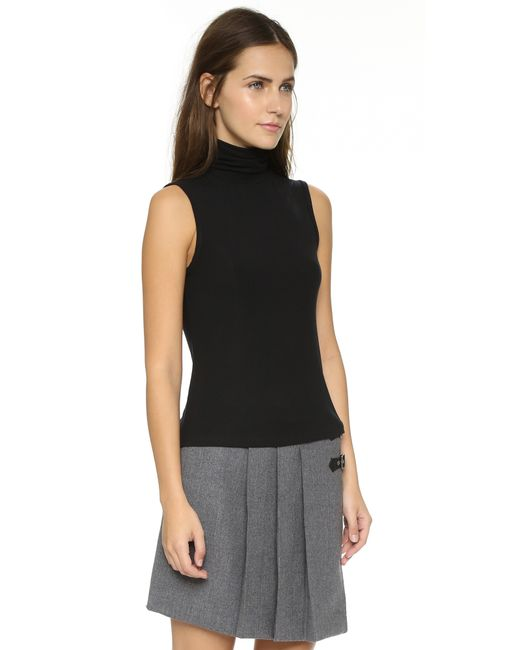 Theory | Black Wendel Sleeveless Sweater | Lyst