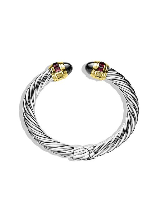 David Yurman | Metallic Renaissance Bracelet With Hematine, Rhodolite Garnet, And Gold, 8.5mm | Lyst