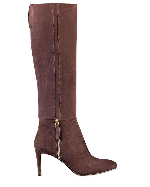 nine west vintage suede heeled boots in brown brown