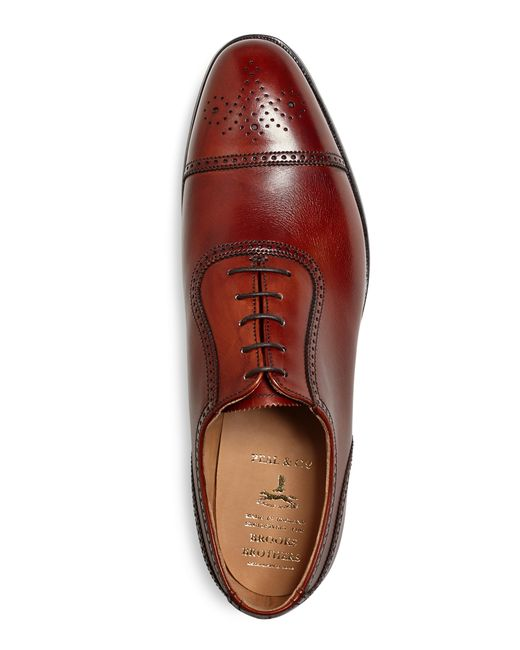 Brooks Brothers | Brown Peal & Co.® Medallion Captoes for Men | Lyst