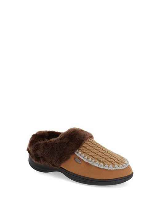 Acorn | Brown Acadia Scuff Faux-Fur Slippers | Lyst