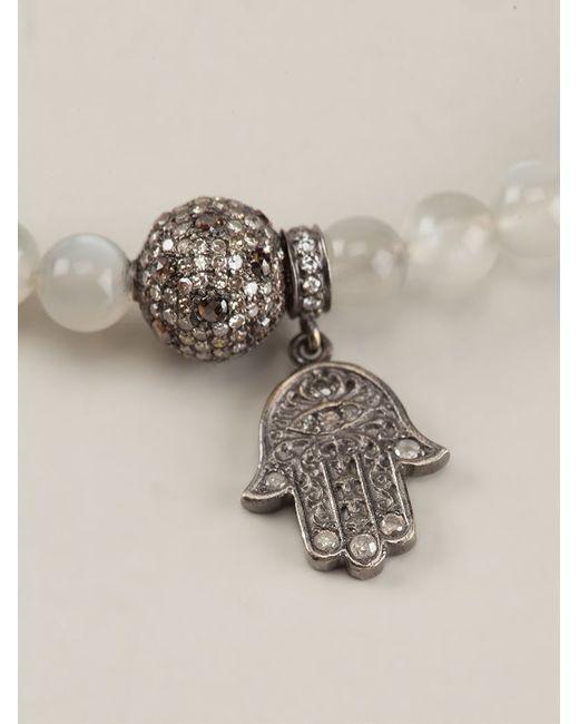 Loree Rodkin | White Moonstone And Diamond Pavé Bracelet | Lyst