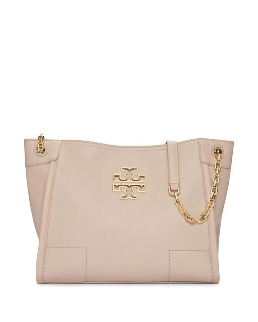 Tory Burch   Brown Britten Small Slouchy Tote   Lyst