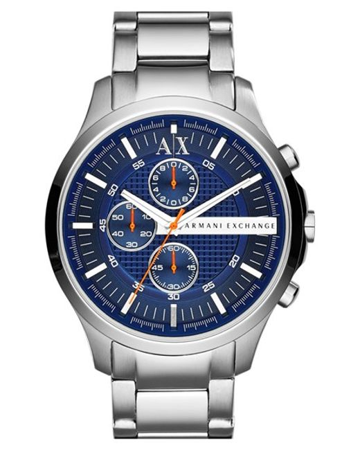 Armani Exchange | Blue Chronograph Bracelet Watch for Men | Lyst