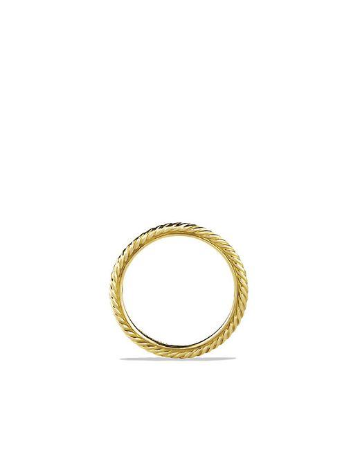 David Yurman | Metallic Cable Classics Band Ring In 18k Gold | Lyst