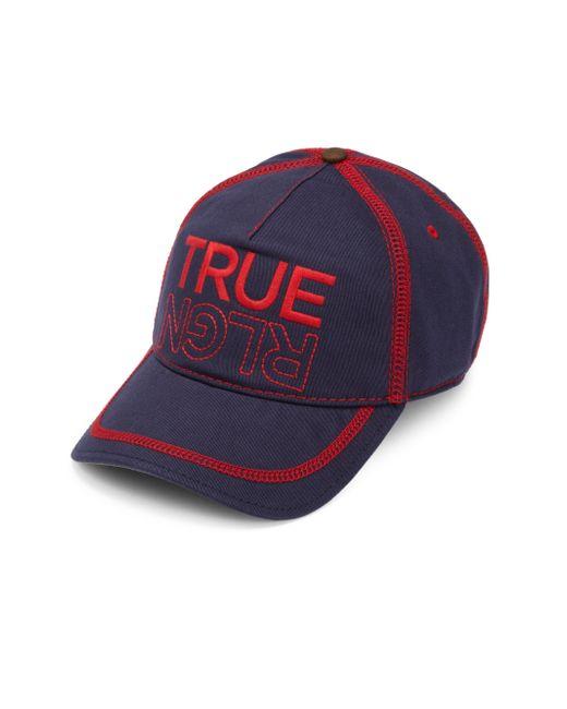 True Religion   Blue Embroidered Logo Baseball Cap for Men   Lyst
