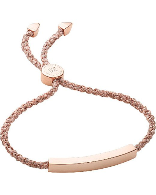 Monica Vinader | Metallic Linear 18ct Gold-plated Friendship Bracelet | Lyst