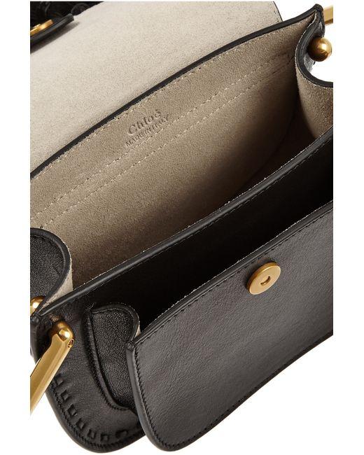 Chlo�� Hudson Mini Tasseled Leather Shoulder Bag in Black | Lyst