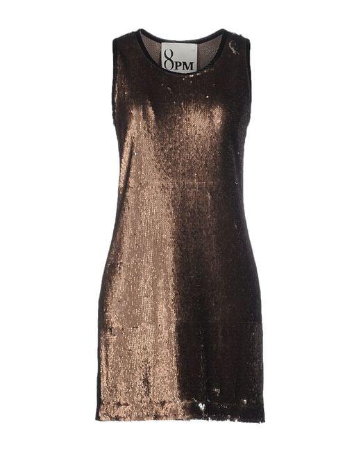 8pm | Brown Short Dress | Lyst