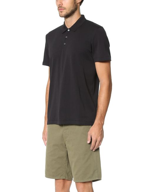 theory boyd polo in black for lyst