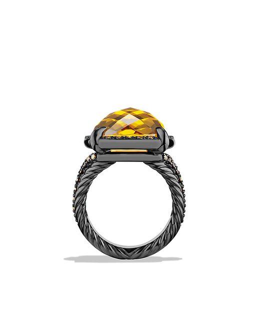 David Yurman | Yellow Chatelaine Ring With Citrine And Cognac Diamonds | Lyst